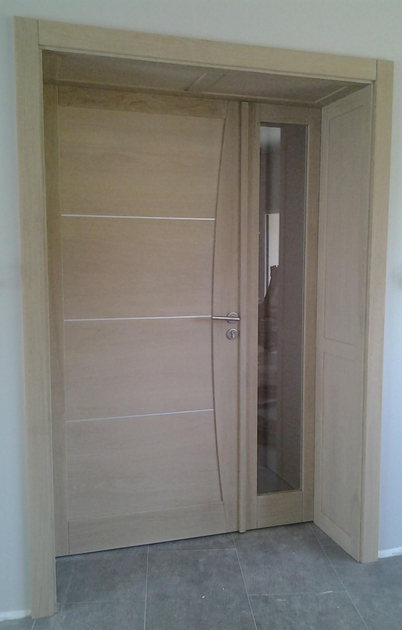 Menuiserie Figard - Fabrication sur mesure - Porte d'intérieur - Chêne blanchi vitrage opale - Vesou