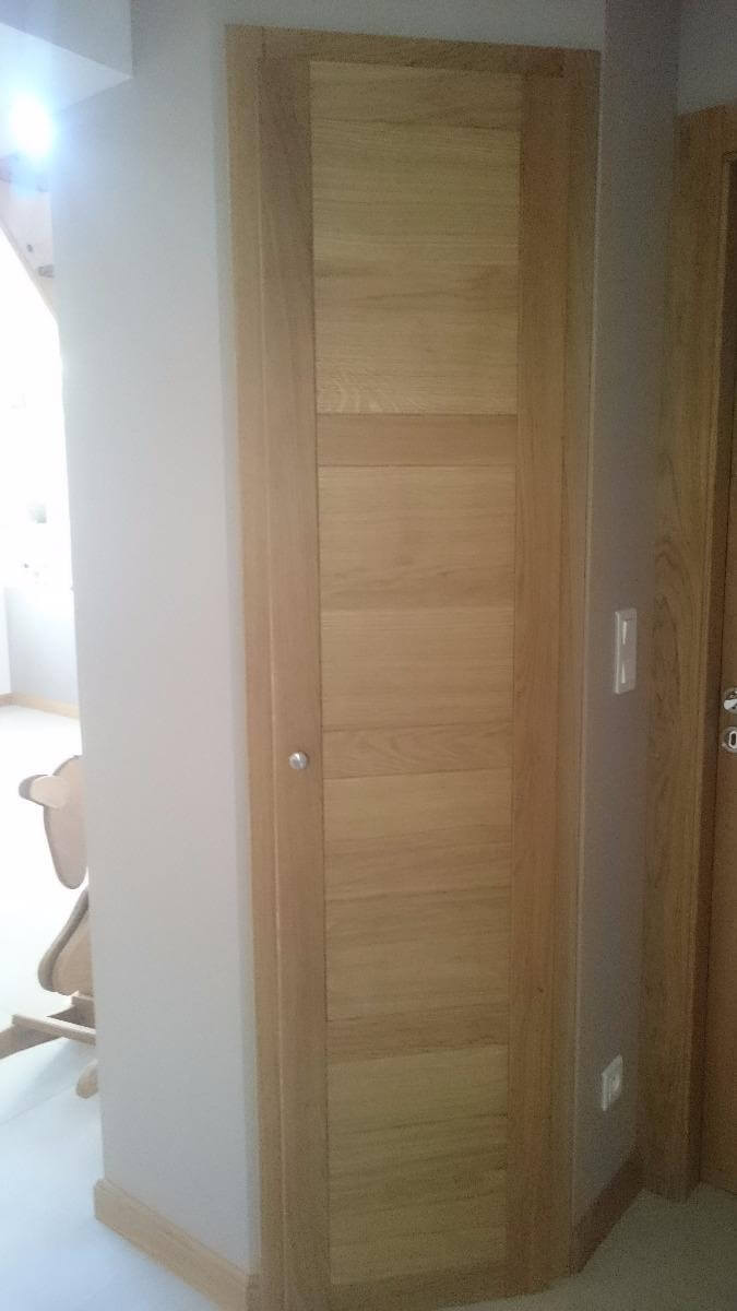Menuiserie Figard - Fabrication sur mesure - Porte de placard - Chêne - Vesoul