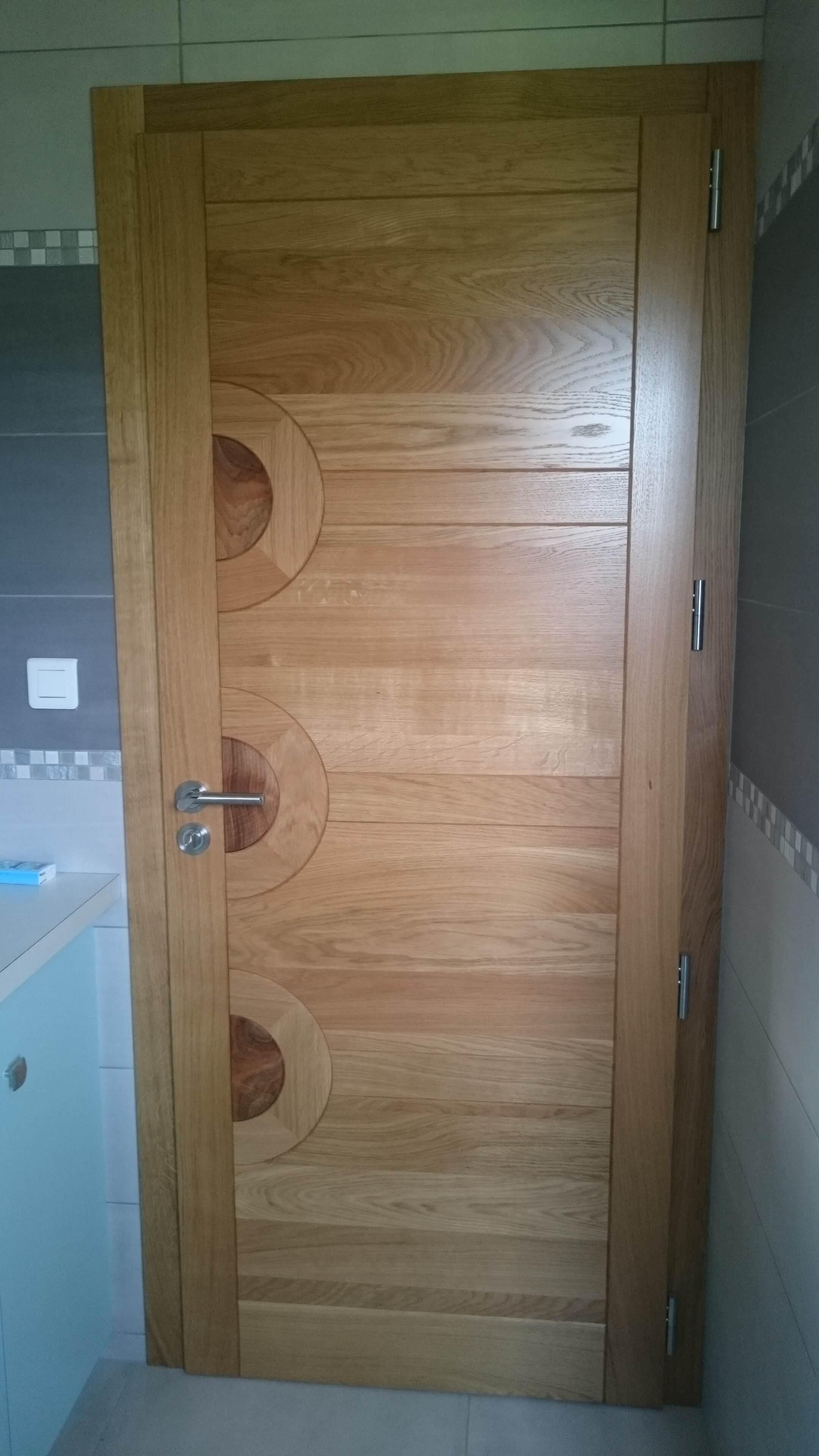 Menuiserie Figard - Fabrication sur mesure - Porte d'intérieure - Chêne noyer - Vesoul