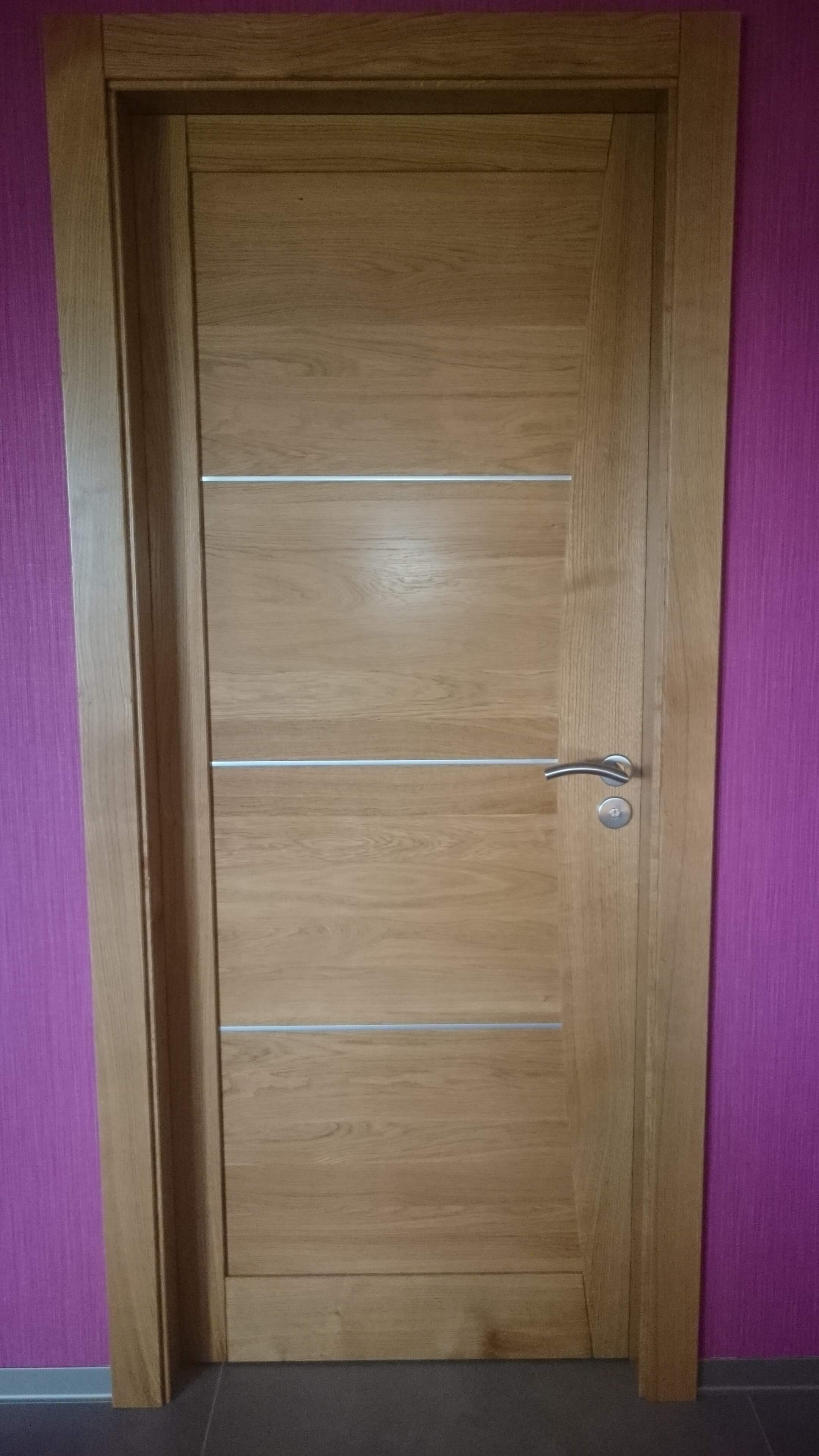 Menuiserie Figard - Fabrication sur mesure - Porte d'intérieur - Chêne insert alu - Vesoul