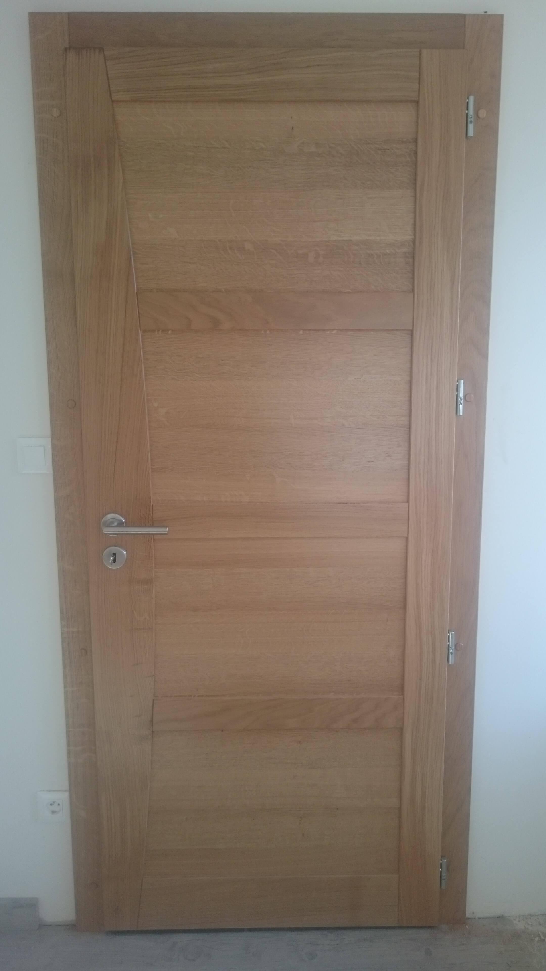 Menuiserie Figard - Fabrication sur mesure - Porte d'intérieure - Chêne - Vesoul