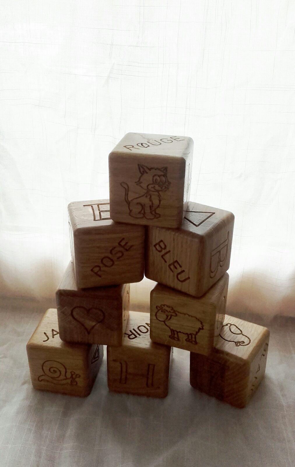 Menuiserie Figard - Fabrication sur mesure - Cube pour enfant - Chêne - Vesoul