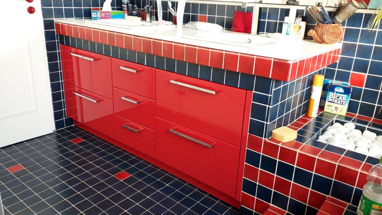 Menuiserie Figard - Fabrication sur mesure - Meuble salle de bain - Laqué - Vesoul